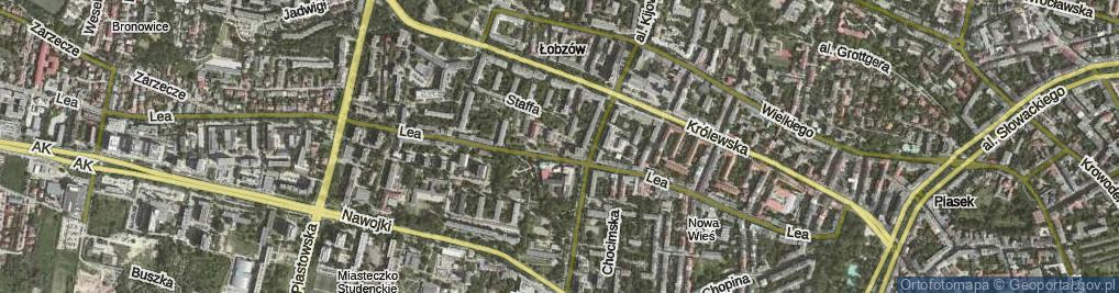 Zdjęcie satelitarne Kronikarza Galla ul.