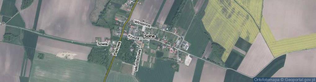 Zdjęcie satelitarne Krucza