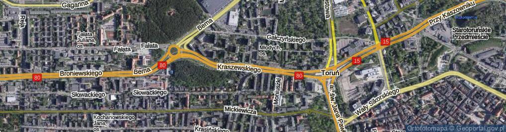 Zdjęcie satelitarne Kraszewskiego Józefa Ignacego