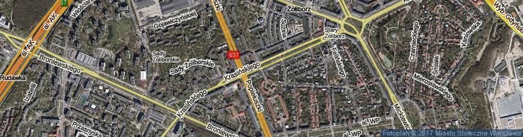 Zdjęcie satelitarne Krasińskiego Zygmunta