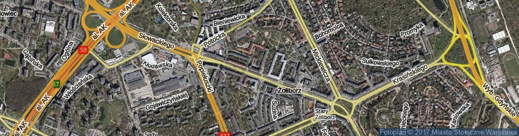 Zdjęcie satelitarne Krechowiecka