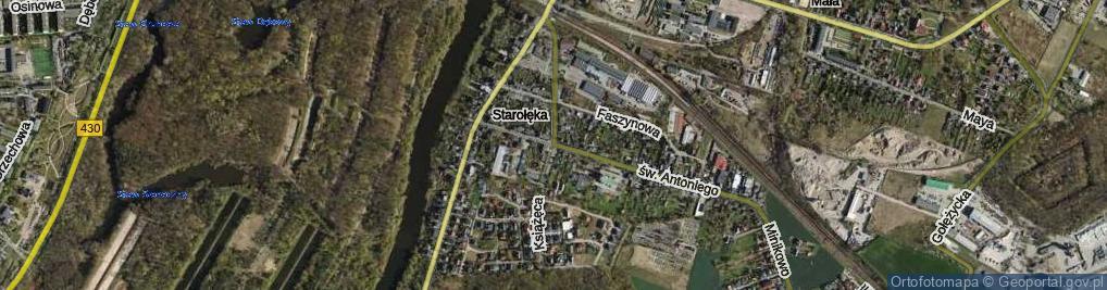 Zdjęcie satelitarne Książęca ul.