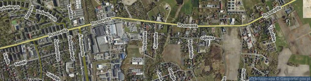 Zdjęcie satelitarne Kujawska