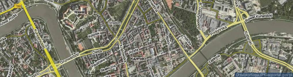 Zdjęcie satelitarne Kupa ul.