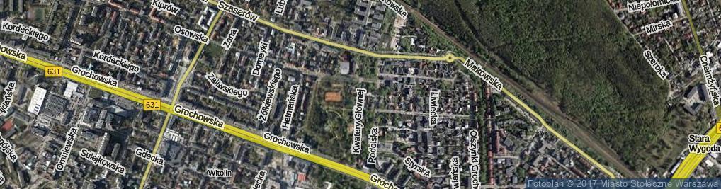 Zdjęcie satelitarne Kwatery Głównej