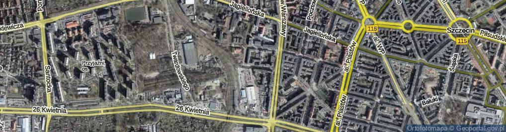 Zdjęcie satelitarne Legionów Henryka Dąbrowskiego ul.