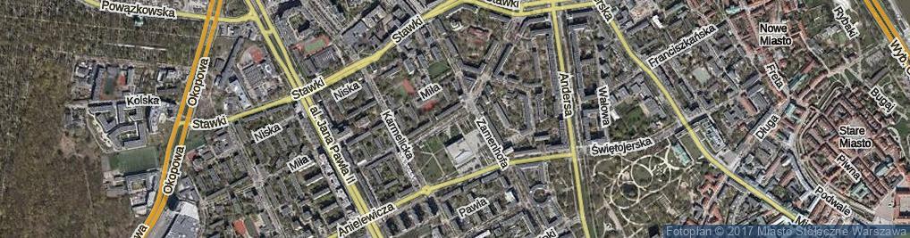 Zdjęcie satelitarne Lewartowskiego Józefa