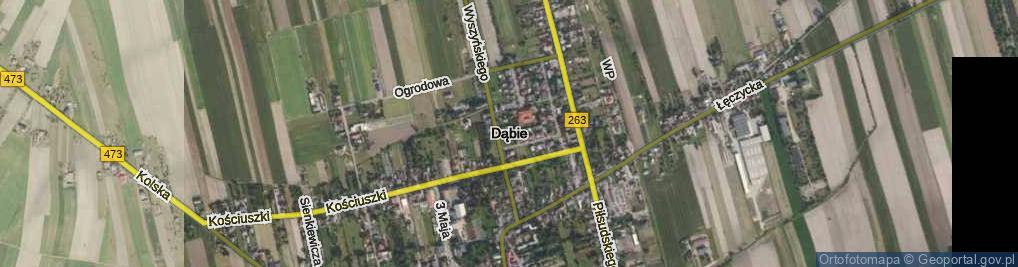 Zdjęcie satelitarne Lubiatów