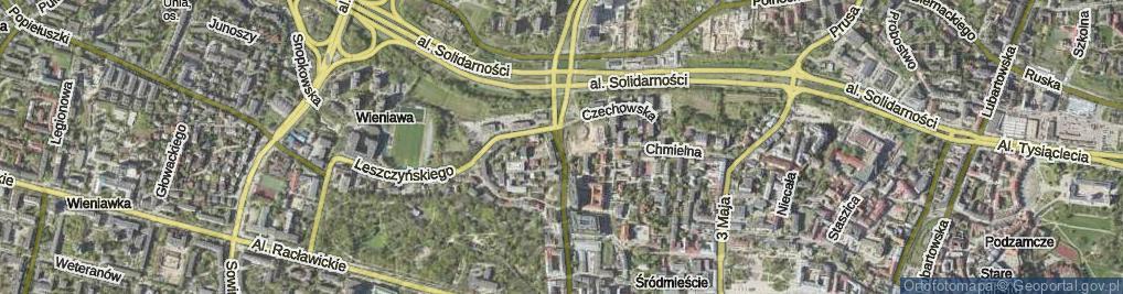 Zdjęcie satelitarne Lubomelska