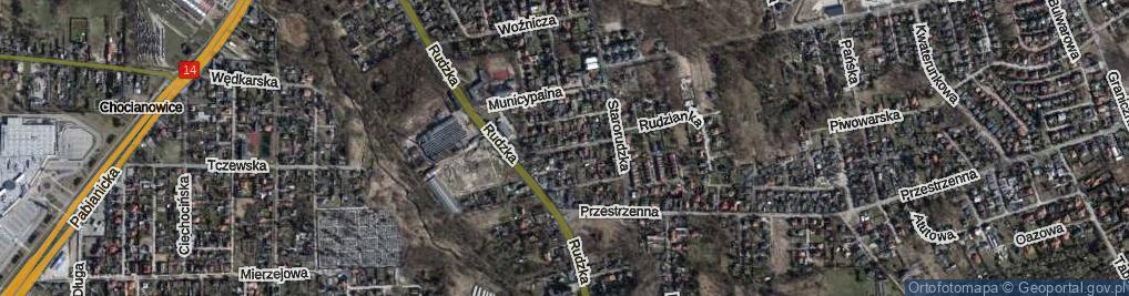 Zdjęcie satelitarne Magdaleny ul.