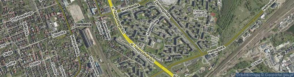 Zdjęcie satelitarne Magnoliowa