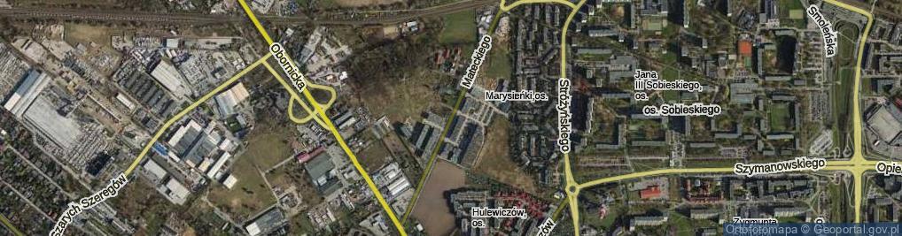 Zdjęcie satelitarne Mateckiego Teofila ul.