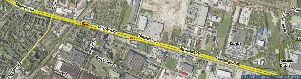 Zdjęcie satelitarne Mełgiewska ul.