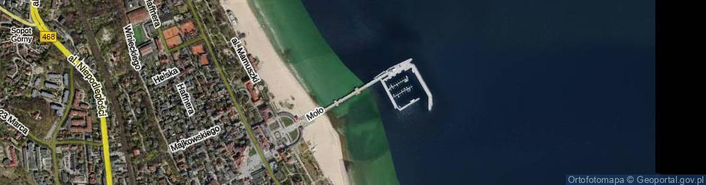 Zdjęcie satelitarne Molo ul.