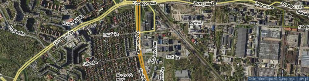 Zdjęcie satelitarne Muchoborska ul.
