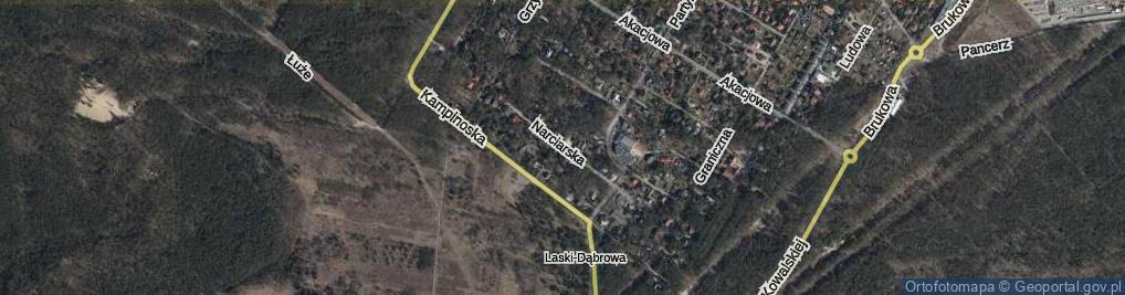 Zdjęcie satelitarne Narciarska