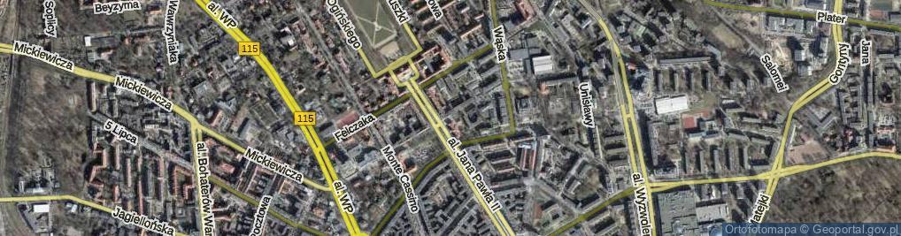 Zdjęcie satelitarne Niedziałkowskiego Mieczysława