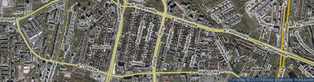 Zdjęcie satelitarne Niedźwiedzia ul.