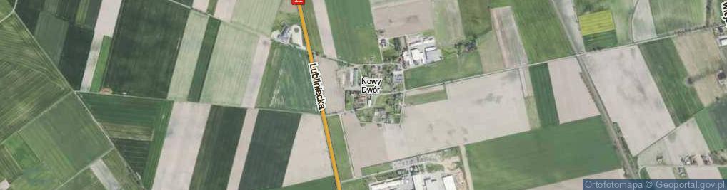 Zdjęcie satelitarne Nowy Dwór ul.