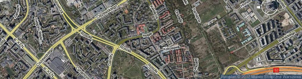 Zdjęcie satelitarne Nowoursynowska