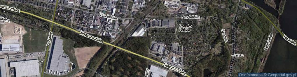 Zdjęcie satelitarne Objazdowa