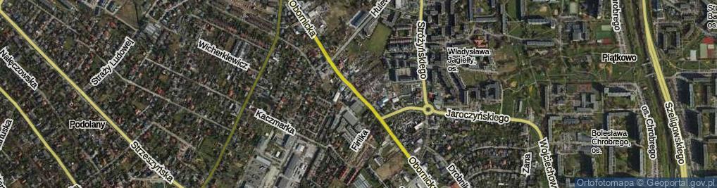 Zdjęcie satelitarne Obornicka