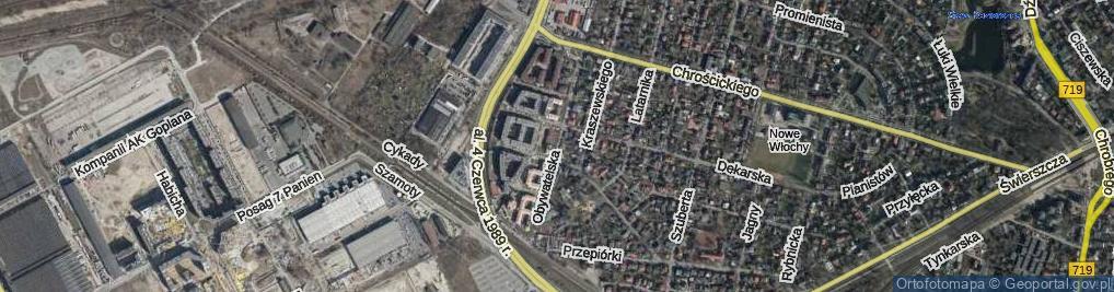 Zdjęcie satelitarne Obywatelska ul.