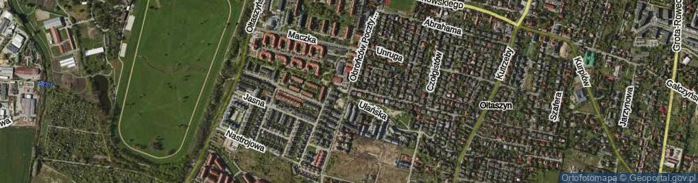 Zdjęcie satelitarne Obrońców Poczty Gdańskiej