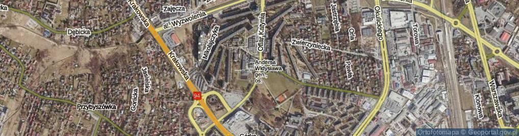Zdjęcie satelitarne Ofiar Katynia