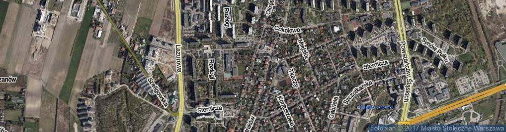 Zdjęcie satelitarne Okrętowa ul.