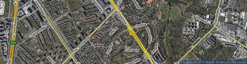 Zdjęcie satelitarne Okrężna