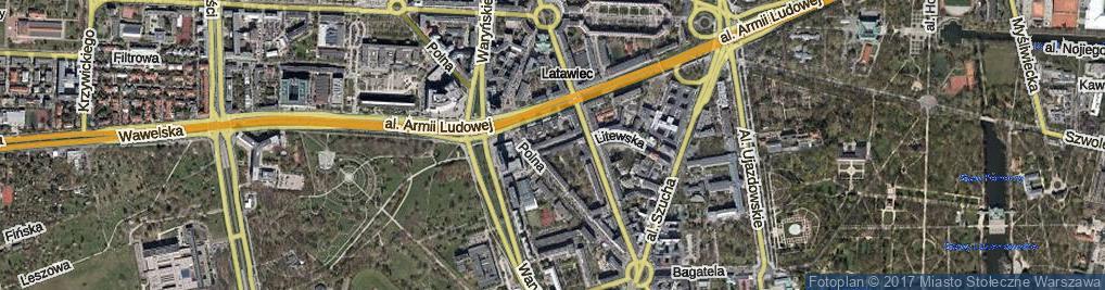 Zdjęcie satelitarne Oleandrów