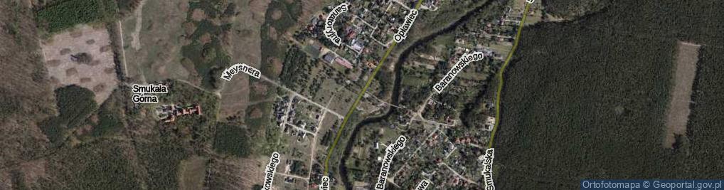 Zdjęcie satelitarne Opławiec ul.