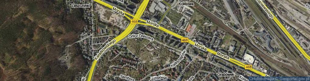 Zdjęcie satelitarne Orlicz-Dreszera Gustawa, gen.