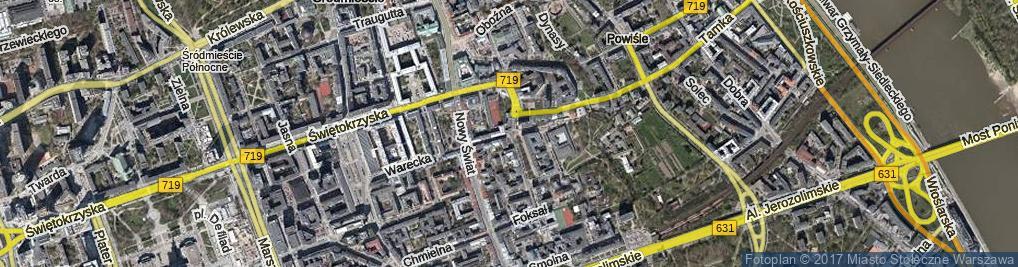 Zdjęcie satelitarne Ordynacka