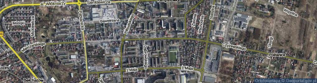 Zdjęcie satelitarne Osiedle 1 Maja