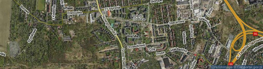 Zdjęcie satelitarne Osiedle Dziekana