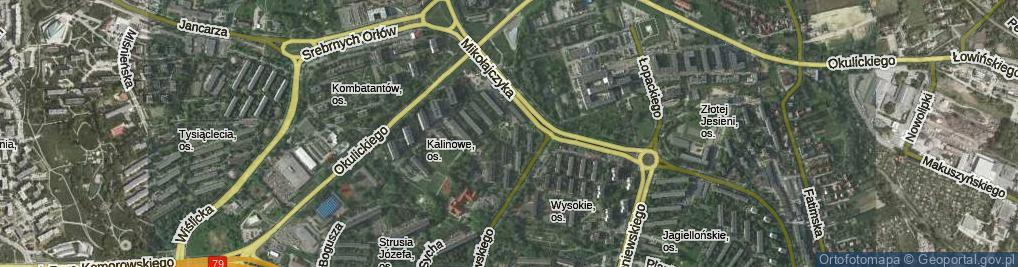 Zdjęcie satelitarne Osiedle Kalinowe os.