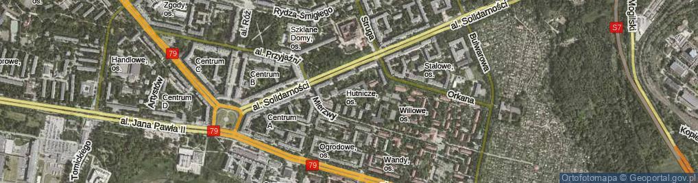Zdjęcie satelitarne Osiedle Hutnicze os.