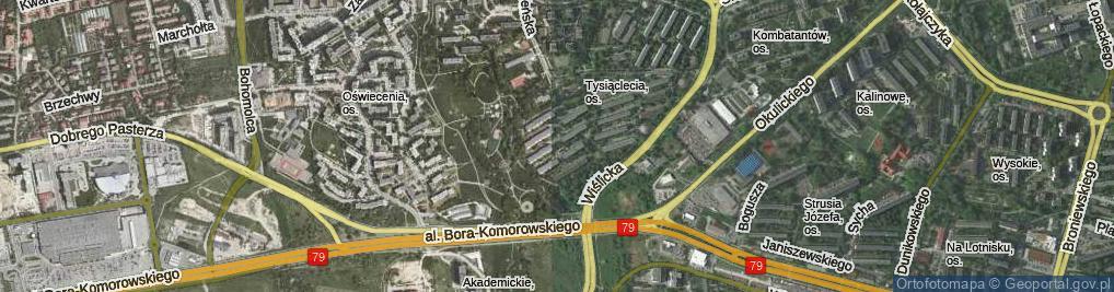 Zdjęcie satelitarne Osiedle Tysiąclecia os.