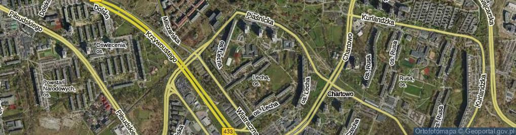 Zdjęcie satelitarne Osiedle Lecha