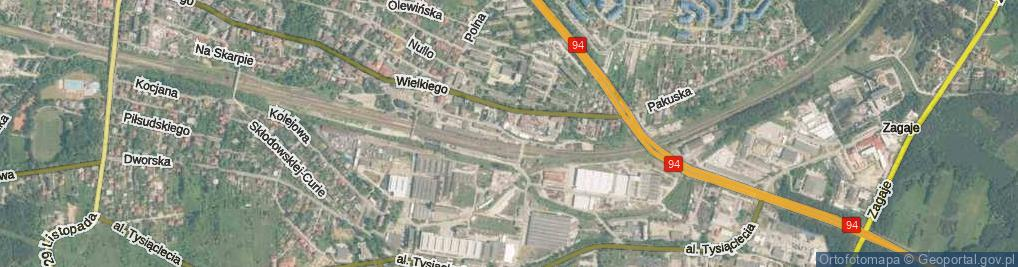 Zdjęcie satelitarne Partyzantów