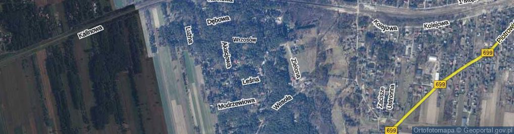 Zdjęcie satelitarne Pallotyńska