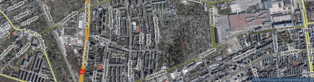 Zdjęcie satelitarne Pietrusińskiego Jana