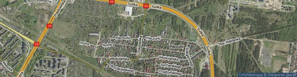 Zdjęcie satelitarne Pieczurki ul.