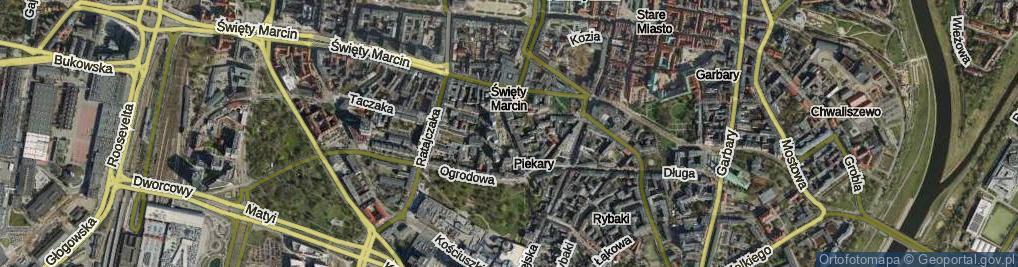 Zdjęcie satelitarne Piekary