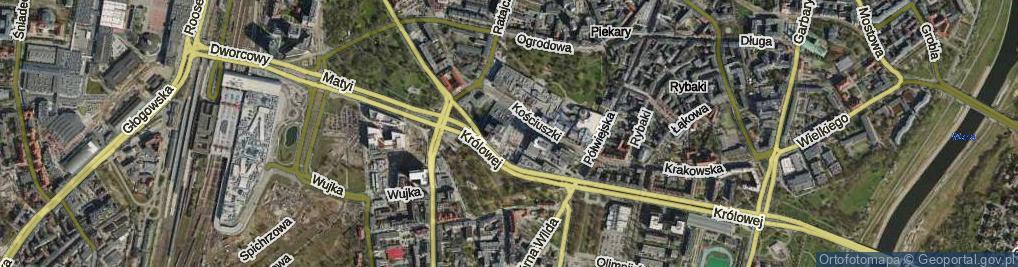 Zdjęcie satelitarne Plac Andersa Władysława, gen. pl.