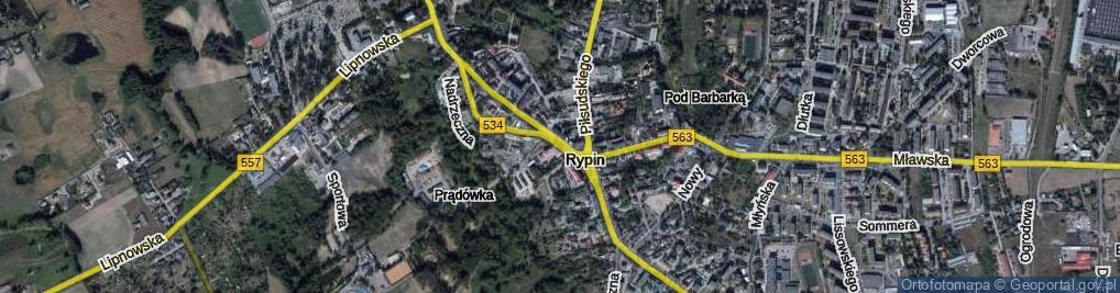 Zdjęcie satelitarne Plac Sienkiewicza Henryka
