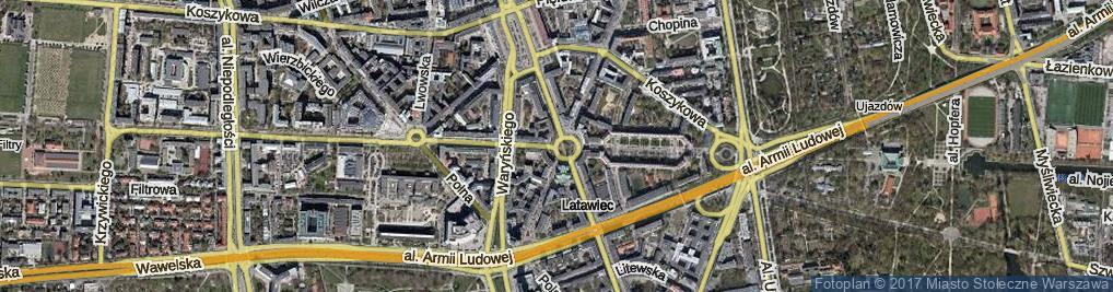 Zdjęcie satelitarne Plac Zbawiciela pl.