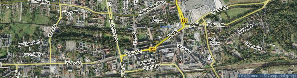 Zdjęcie satelitarne Plac Traugutta Romualda, gen.